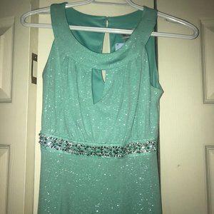 Sparkly Teal Formal Dress